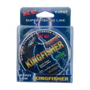 Леска KingFisher 0.25мм 30м 9.02кг светлая