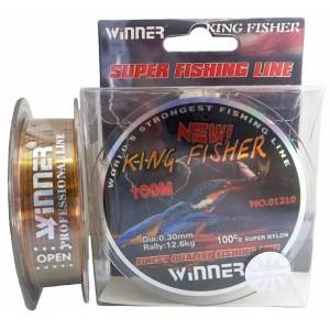 Леска Winner KingFisher 0.30мм 100м 12.6кг радужная