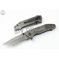 Тактический нож Browning (Браунинг) 356 - титановое покрытие, пилка серейторная. Полуавтомат. Клипса для ношения.