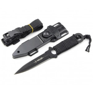 Нож нескладной универсальный, двухстороння заточка Haller(Sarawak) SH102