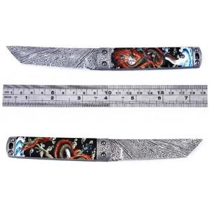 Нож нескладной Японский Танто дамаск JGF50