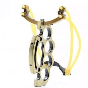 Рогатка металлическая спортивная с ручкой кастет HeyTec