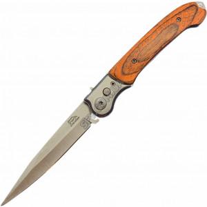 Выкидной нож Т08 Дерево Кнопочный, Автоматический