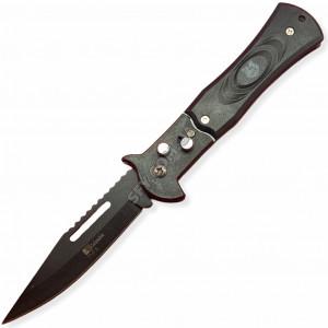 Нож выкидной M4 черный тигр