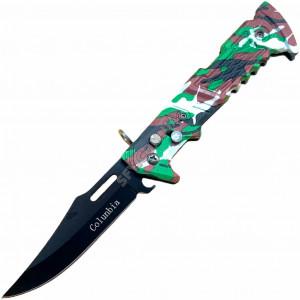 Нож выкидной камуфляж 170