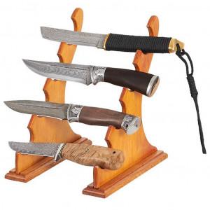 Подставка на 4 ножа дерево