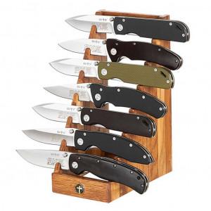Подставка на 7 ножей дерево
