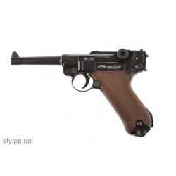 Пистолет пневматический Gletcher Parabellum P-08 (Blowback)