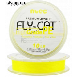 Шнур плетеный NTEC Fly Cat YELLOW (желтый) 137m