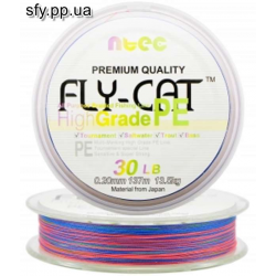 Шнур плетеный NTEC Fly Cat Multicolor 137 m