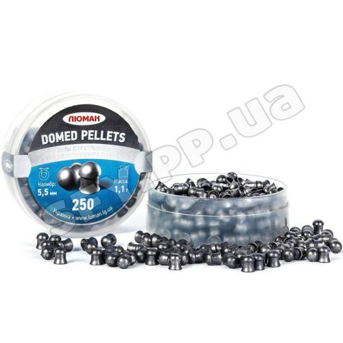 Пули Люман 5.5 мм 1.1г Domed pellets 250 шт/пачка