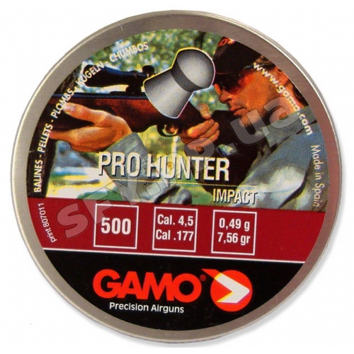 Пуля Gamo Pro Hunter 500шт 0,49г