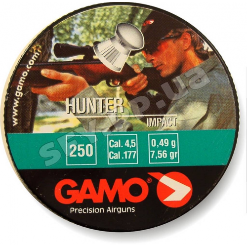 Пуля Gamo Hunter 250шт 0,49г