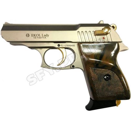 Сигнально шумовой пистолет Ekol Lady Satina Gold