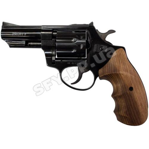 """Револьвер флобера ZBROIA PROFI-3"""" (чёрный / бук)"""