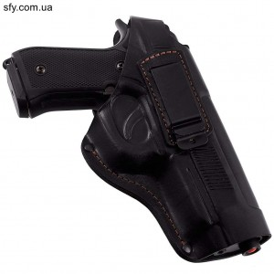Кобура поясная для Beretta 92, кожаная формованая со скобой