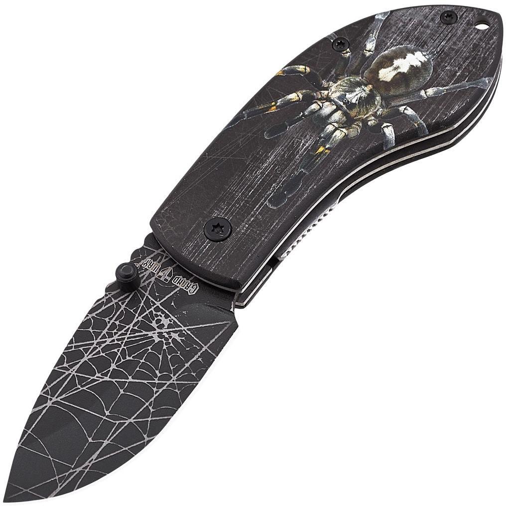 Складной небольшой нож с Пауком 02091