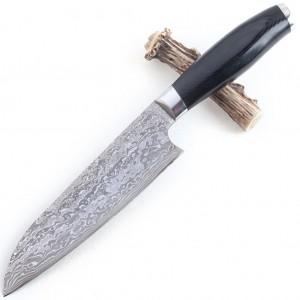 Кухонный шеф нож из дамасской стали Boda DKC01